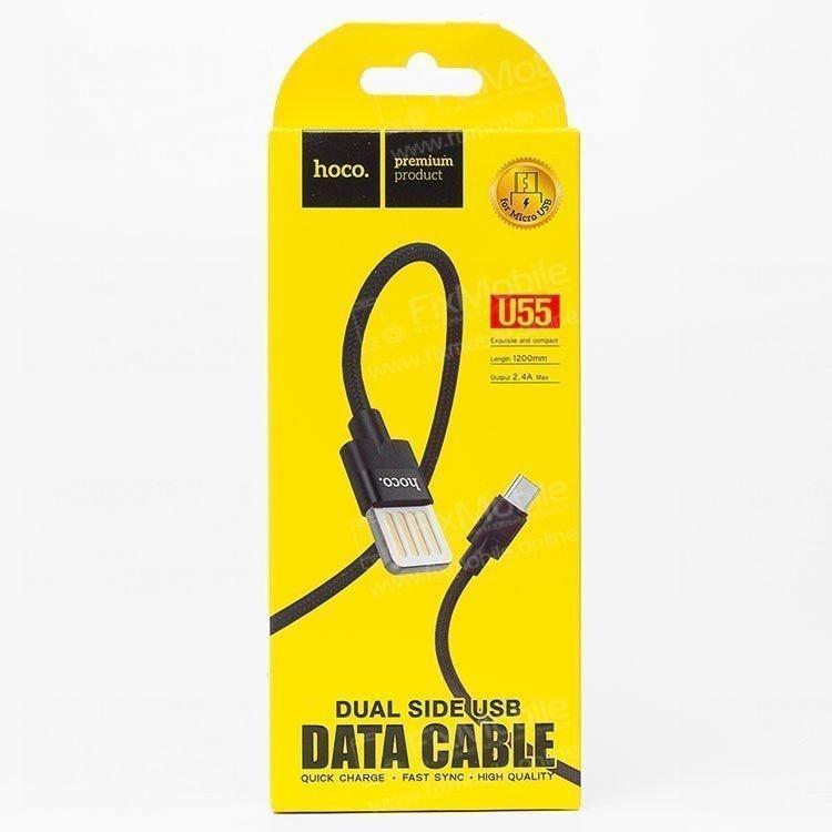 Кабель HOCO U55 Outstanding micro USB-USB (черный)