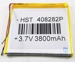 Превью Аккумуляторная батарея универсальная 408282p 3,7v 3800 mAh 4*82*82 мм — 1