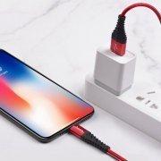 Кабель HOCO X38 Cool Charging для Apple (USB - Lightning) красный — 2